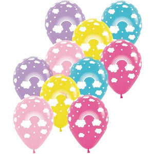 Rainbow Balloons - 6 pack