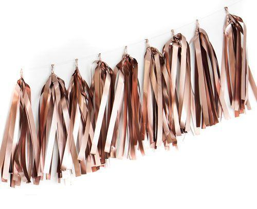 Metallic Rose Gold Tassels