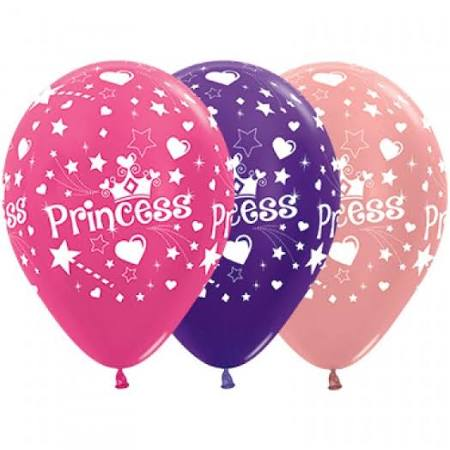 Princess Latex Balloons - 10pack
