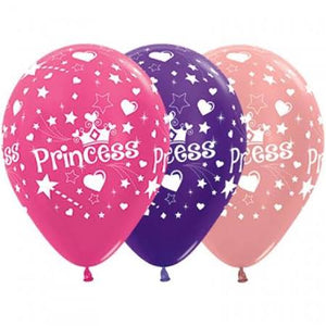 Princess Latex Balloons - 8pack
