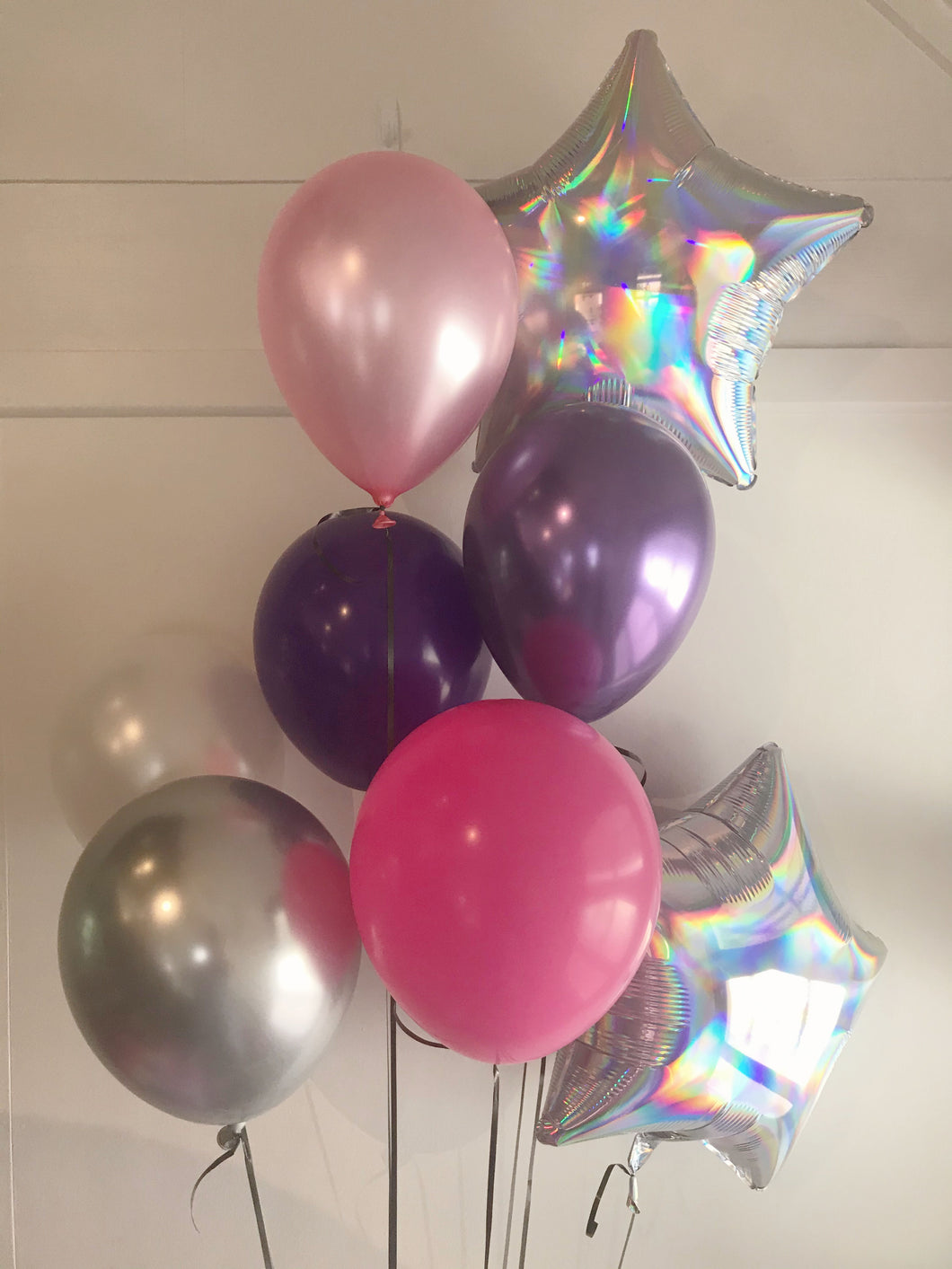 Silver Unicorn Dreams Balloon Bunch