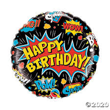 SuperHero Happy Birthday Foil Balloon