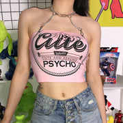 Cute and Psycho Chain Top