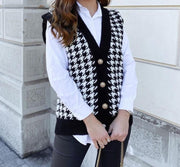 Sweater Vest Cardigan