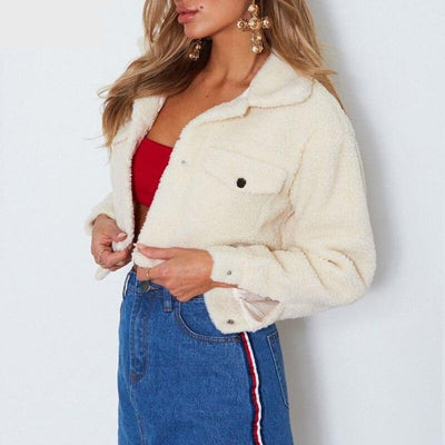 Carla Cropped Teddy Jacket