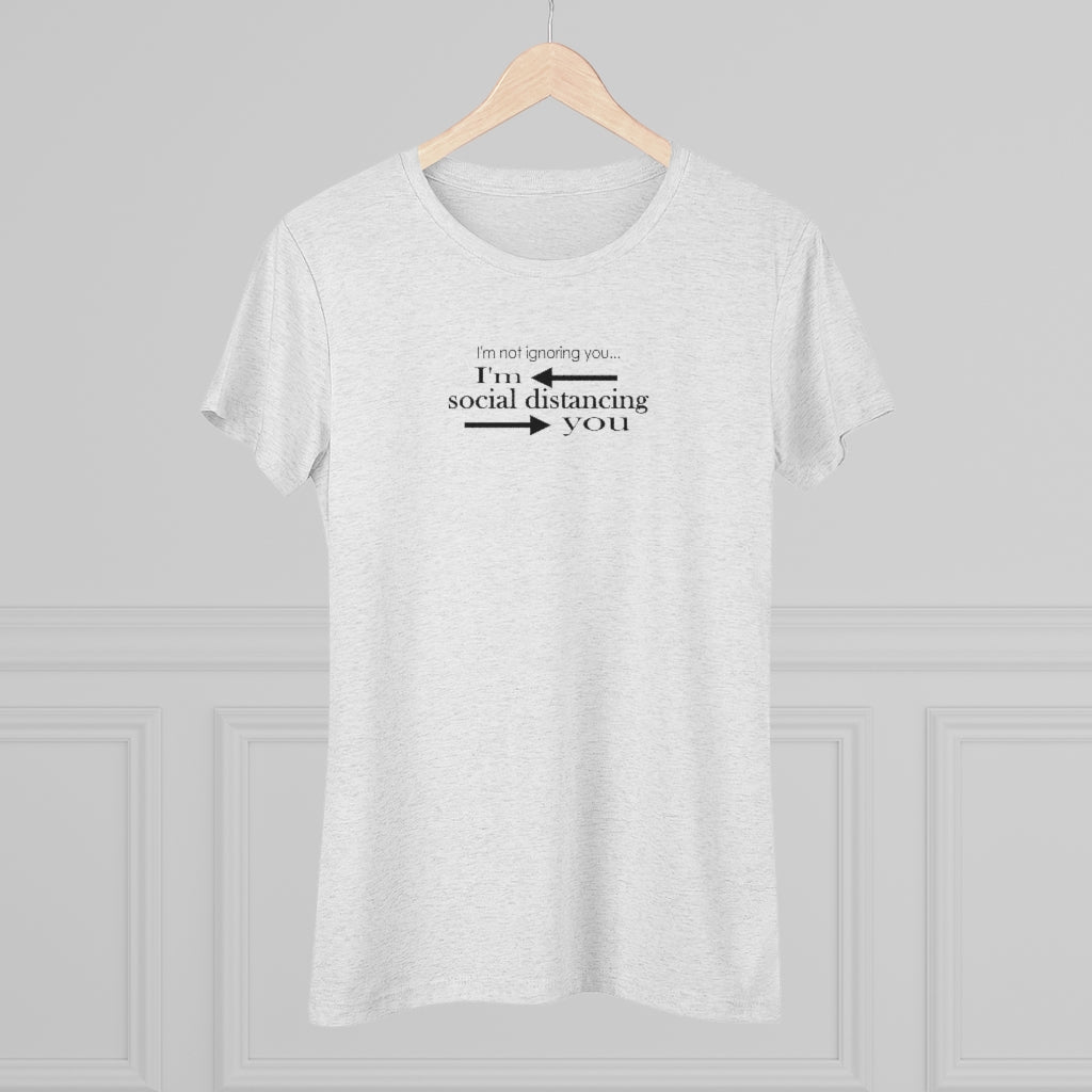 Social Distancing Triblend Tee