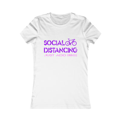 Women's Social Distance (Just Add Bike) Tee