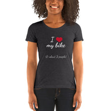 Load image into Gallery viewer, Heart Bike Dark Ladies' short sleeve t-shirt