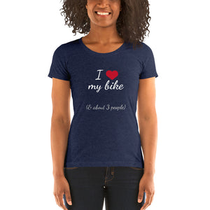 Heart Bike Dark Ladies' short sleeve t-shirt