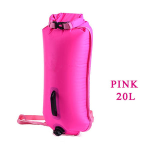 Open image in slideshow, Swim Buoy Dry Bag Inflatable Tow Float