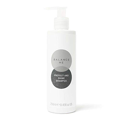 Balance Me Protect & Shine Shampoo | With Black Pepper & Jojoba | Sulphate Free Shampoo | Revitalising| For All Hair Types | Natural Shampoo | Vegan Friendly & Cruelty Free | Made in the UK | 250ml
