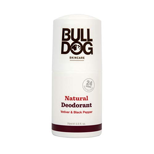 Bulldog Skincare Vetiver and Black Pepper Roll On Natural Deodorant 75ml