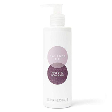 Balance Me Rose Otto Hand & Body Wash | With Vitamin E | Soothing Hand Wash | Protects & Calms | For Sensitive Skin | Natural Skincare | Vegan Friendly & Cruelty Free | Made in the UK | 250ml