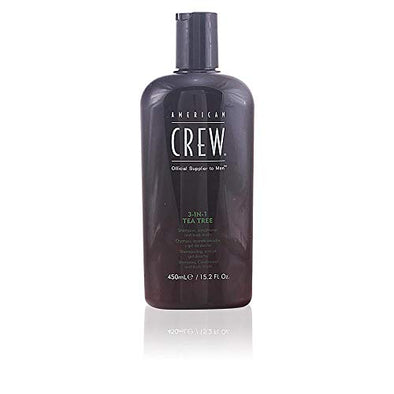 American Crew 3-in-1 Tea Tree Shampoo, Conditioner and Body Wash - 450ml