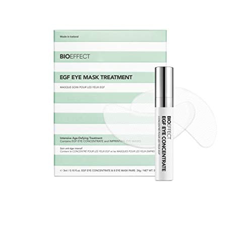 BioEffect Anti-Aging Care Facial Care EGF Eye Mask Treatment Set EGF Eye Serum 3 ml + Eye Mask 12 Pads 1 pc.