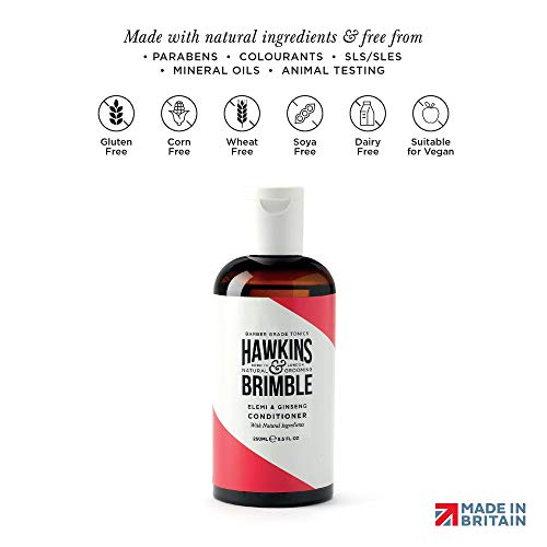 Hawkins & Brimble Hair Conditioner for Men 250ml - Moisturisers Smooths Assist With Frizz Maintenance