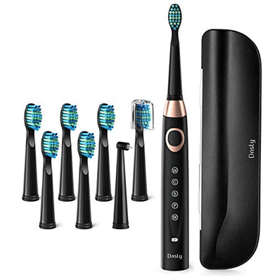 Electric Toothbrush for Adults Powerful Sonic Cleaning - Whitening Toothbrushes with Smart Timer, 5 Modes, 8 Brush Heads & A Travel Case, 4 Hr Charge Last 30 Days Rechargeable Sonic Toothbrushes