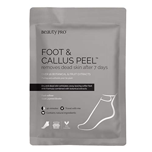 BeautyPro FOOT and CALLUS PEEL, Exfoliating Foot Peeling Mask for Soft Baby Feet, Exfoliating Foot Mask, Repairs Rough Heels in 7 Days; Foot Peel Booties