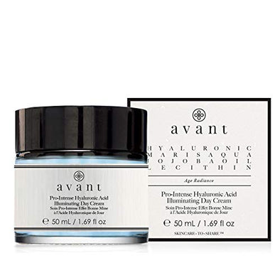 Avant - Day Cream - Helps Against Signs of Ageing and Fatigue + Intense Hydration - Pro-Intense Hyaluronic Acid Illuminating Day Cream - 1x 50ml, black