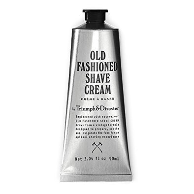 Triumph & Disaster Old Fashioned Shave Cream - 90ml Tube (Gives 90+ Shaves) - with Organic Compounds Coconut Oil Extracts & Active Agents to Deliver a Smooth Close & Comfortable Wet Shave