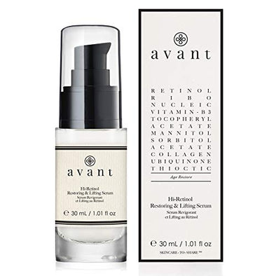Avant Hi-Retinol Restoring And Lifting Serum, 30 ml AV022 Black