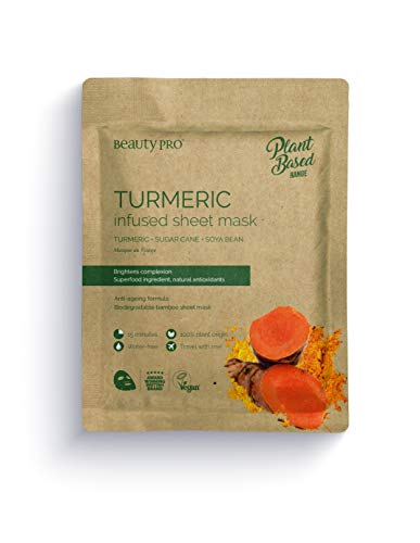 BeautyPro TURMERIC Infused Face Sheet Mask