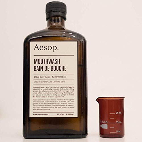 Aesop Mouthwash 500ml Concentrated Anti Bacterial Mouthwash in Mint Flavor with Tooth Decay and Fluoride Protection for A Complete Mouth Care