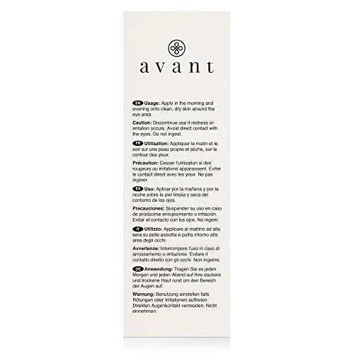 AVANT - Anti-Ageing Eye Serum - Helps Diminish Wrinkles, Dark Under-Eye Bags, Puffiness - Advanced Bio Absolute Youth Eye Therapy - 1x 15ml