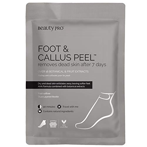 BeautyPro FOOT and CALLUS PEEL, Exfoliating Foot Peeling Mask for Soft Baby Feet