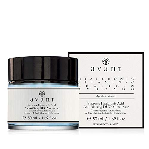 Avant - Day & Night Cream - Age Nutri-Revive Hydration For All Skin Types - Supreme Hyaluronic Acid Anti-oxidising DUO Moisturiser - 1x 50ml