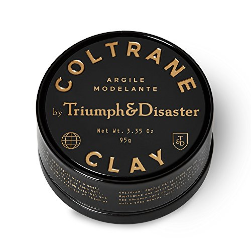 Triumph & Disaster Coltrane Clay 95gram - Designer Matte Medium Hold Conditioning Hair Styling Clay made with Natural White Clay Beeswax and Pracaxi Oil