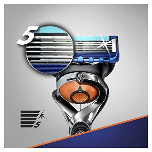 Gillette Fusion5 ProGlide Razor for Men with Flexball Technology + 7 Refill Blades with Precision Trimmer