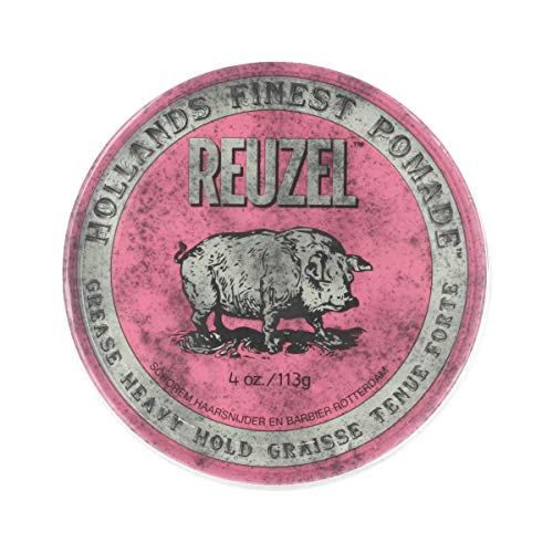 Reuzel Styling Pink Pomade Grease Heavy Hold, 1 Pack (1 x 113 g)
