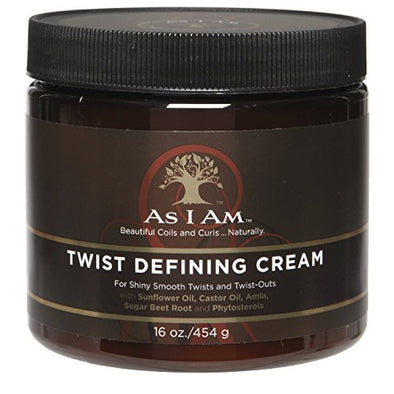AS I AM Twist Defining Cream For Shiny Smooth Twists and Twist Outs 16 oz