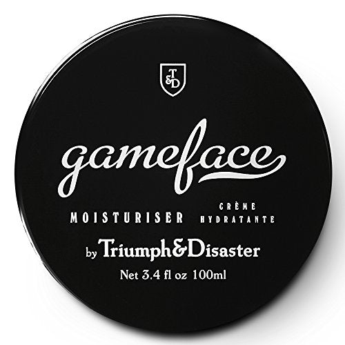 Triumph & Disaster Gameface Moisturiser 100ml Jar – with Jojoba Extract Horopito Oil Vitamin E and Natural Antioxidants to Moisturise Invigorate and Rehydrate Dry Dull & Tired Skin