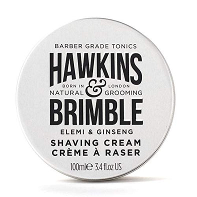 Hawkins & Brimble Men's Shave Cream 100ml - Male Shaving Lotion Easily Creates A Good Brush Bowl Lather | Award Winning Nicely Scented Made with Natural Ingredients