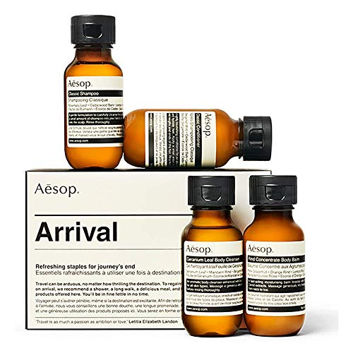 Aesop Arrival Travel Kit Hair And Body Essentials Lightweight Travel Collection Set With Moisturiser