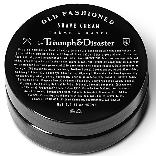 Triumph & Disaster Old Fashioned Shave Cream - 3100ml Jar (Gives 100+ Shaves) - with Organic Compounds Coconut Oil Extracts & Active Agents to Deliver a Smooth Close & Comfortable Wet Shave