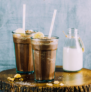 Dairy Free Chocolate Banana Oatmeal Smoothie
