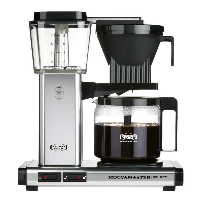 Moccamaster KBG Select Filter machine - Polished Silver (with glass flask)