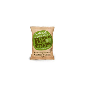 Brown Bag Crisps -  Cheddar & Onion (20 bags)