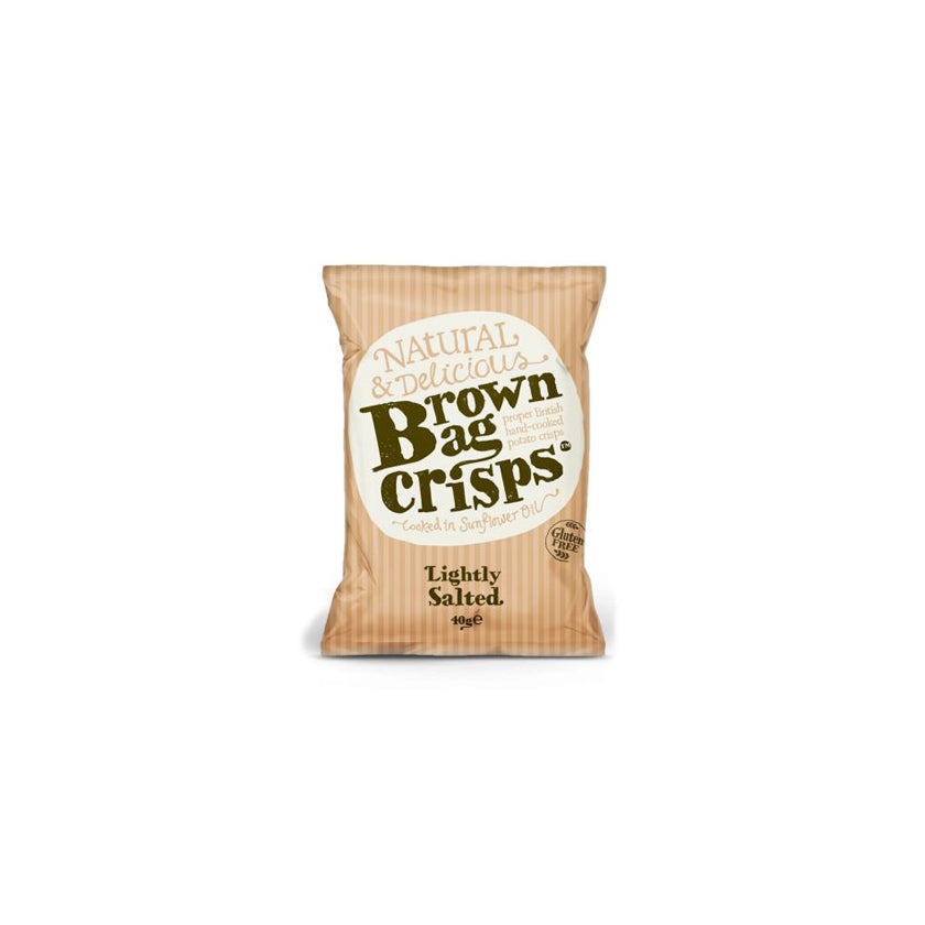 Brown Bag Crisps - Lightly Salted (20 bags)