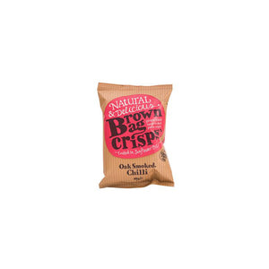 Brown Bag Crisps -  Oak Smoked Chilli (20 bags)