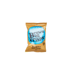 Brown Bag Crisps - Sea Salt & Malt Vinegar (20 bags)