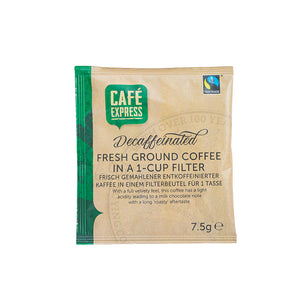 Fairtrade One-Cup Decaffeinated Coffee Filter