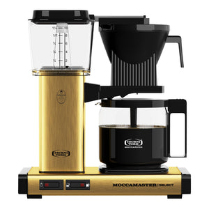 Moccamaster KBG Select Filter machine - Brushed Brass (with glass flask)