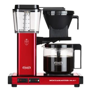 Moccamaster KBG Select Filter machine - Red Metallic (with glass flask)