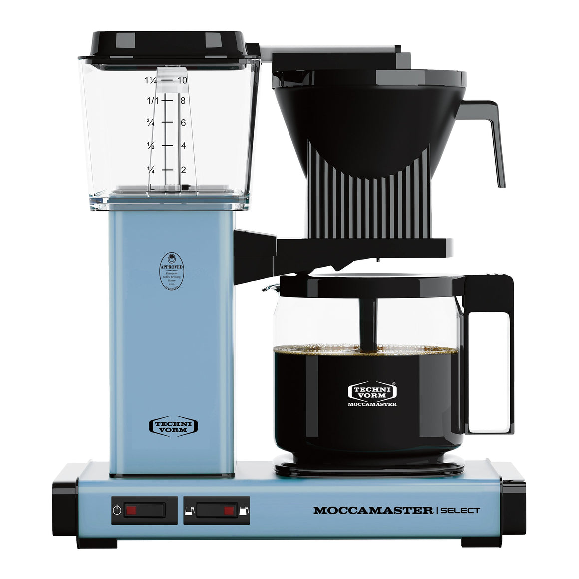 Moccamaster KBG Select Filter machine - Pastel Blue (with glass flask)