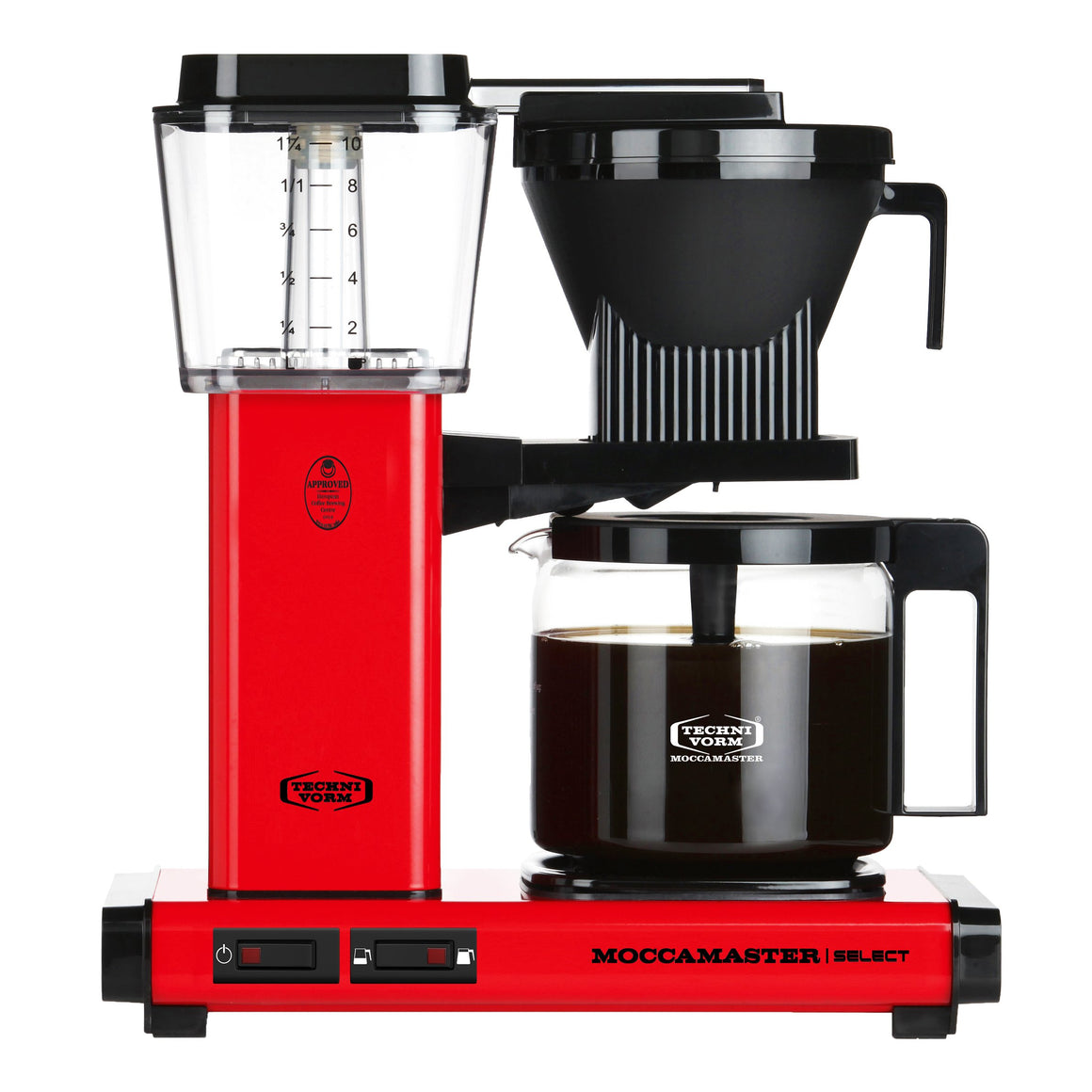 Moccamaster KBG Select Filter machine - Red (with glass flask)