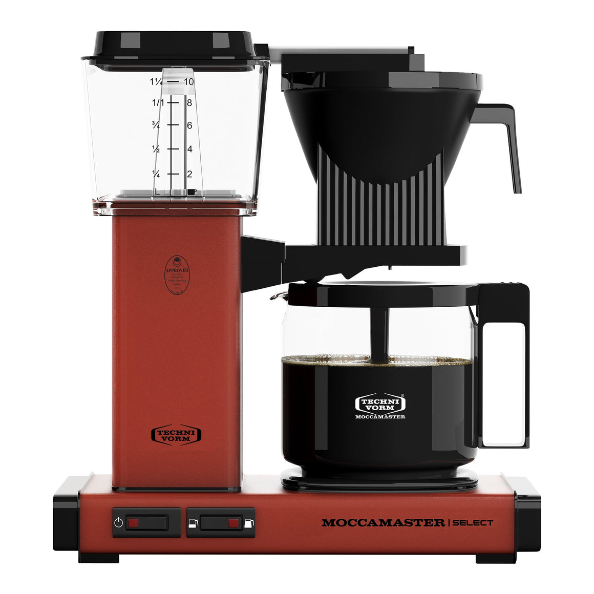 Moccamaster KBG Select Filter machine - Brick Red (with glass flask)